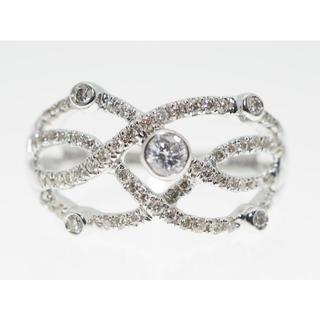 【0.500Cts】K18WGダイヤモンドリング【サイズ直し無料】(リング(指輪))