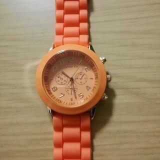 腕時計 オレンジ(腕時計)