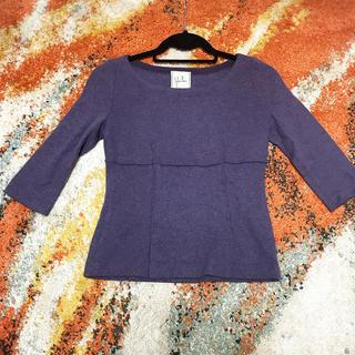 シビラ(Sybilla)のsybilla シビラ  葡萄色の秋服ウール素材ニット 紫系(ニット/セーター)