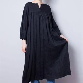 nest Robe - nest robe リネン強撚ラチネキーネックワンピース