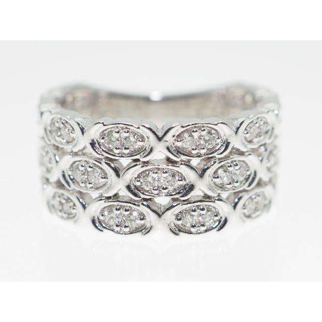 【0.500Cts】PT900 ダイヤモンドリング【サイズ直し無料】 レディースのアクセサリー(リング(指輪))の商品写真