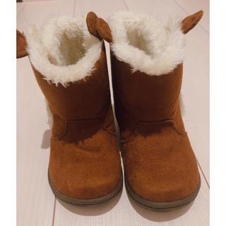 MOONSTAR  - 子供用 ムートン ブーツ 防寒靴 冬靴 15cm