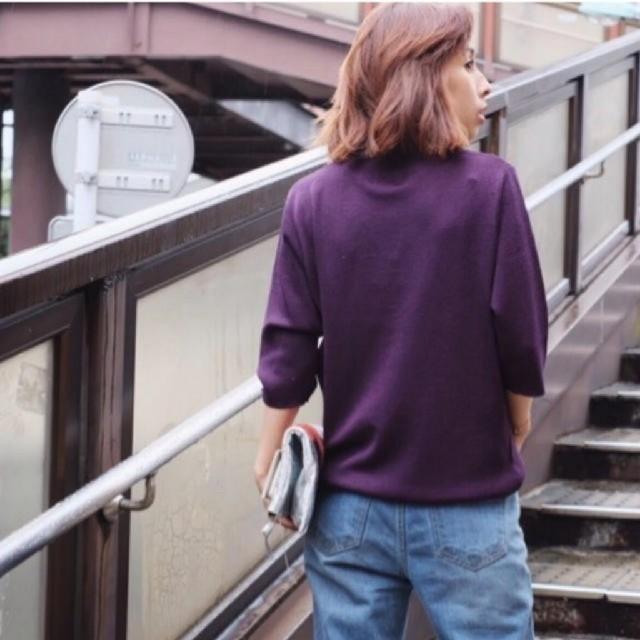 Ameri VINTAGE(アメリヴィンテージ)のAmeri  カラー ロールアップネック ニット レディースのトップス(ニット/セーター)の商品写真