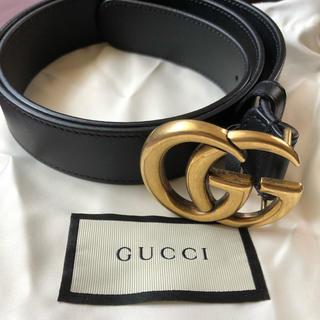 Gucci - GUCCI レザーベルト ダブルG
