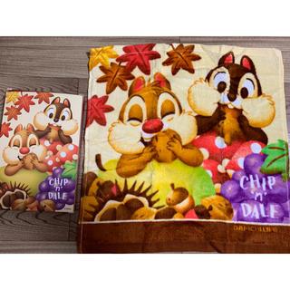 Disney - 第一生命 ハンドタオル Disney チップとデール 非売品