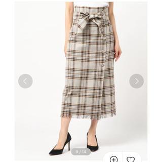 ミラオーウェン(Mila Owen)のくるみチェックタイトスカート(ロングスカート)