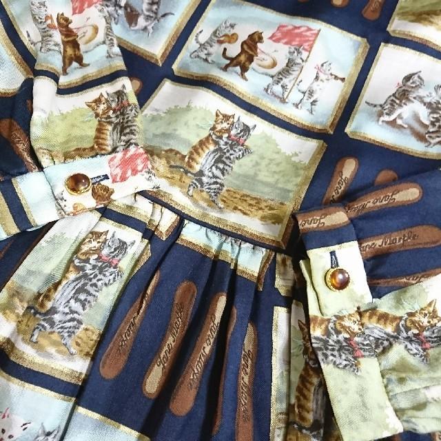 JaneMarple(ジェーンマープル)のJane Marple ラングドシャ ショコラ ワンピース 猫 ジェーンマープル レディースのワンピース(ひざ丈ワンピース)の商品写真