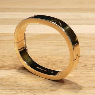 celine - 美品 セリーヌ マンシェット ブレスレット バングル ゴールド チェーン S