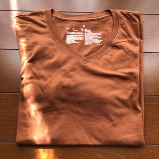 MUJI (無印良品) - 無印良品長袖tシャツ Vネック