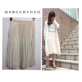 MERCURYDUO - MERCURYDUO シャイニーランダムプリーツスカート