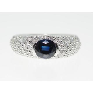 【S1.114Cts D00.610】PT900 サファイヤダイヤモンドリング(リング(指輪))