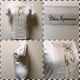 ◾︎◾︎ クリアインプレッション ◾︎◾︎ 半袖デザインカットソー