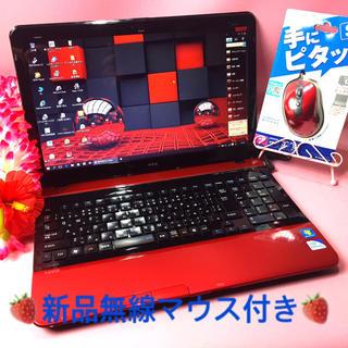 NEC - 可愛いマジカルプリンセスレッド❤️DVD再/オフィス/無線❤️Win10❤️美赤