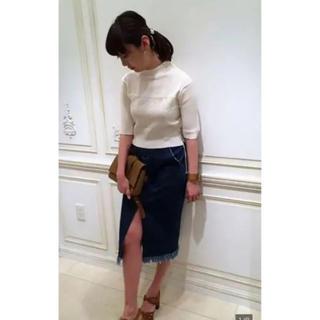 マメ(mame)のmame kurogouchi デニム スカート(ひざ丈スカート)