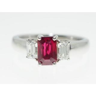 【D0.255Cts R1.16ct】PT900 ルビーダイヤモンドリング(リング(指輪))