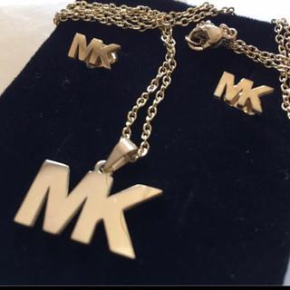 マイケルコース(Michael Kors)のMK ピアスネックレスセット W(ピアス)