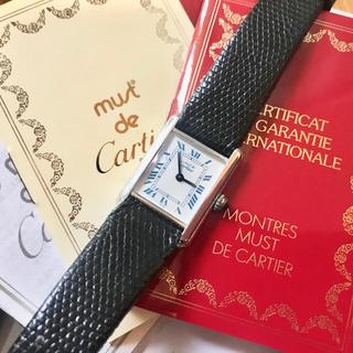 Cartier - 保証書付き✨カルティエ Cartier マストタンク シルバー SM