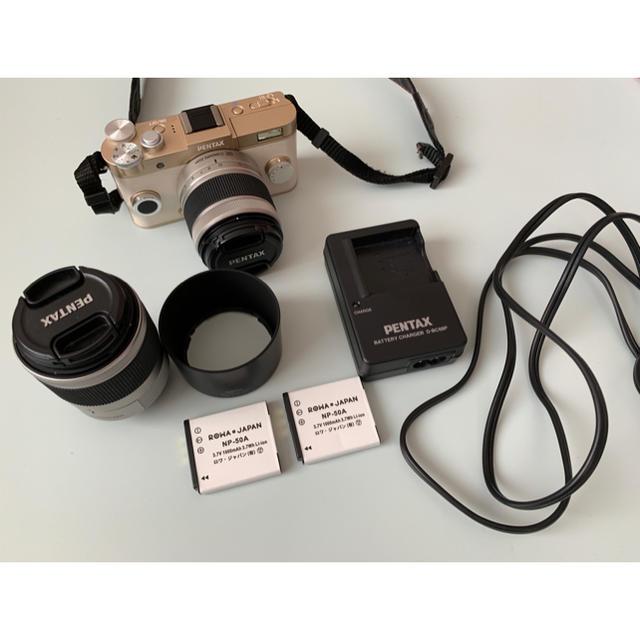PENTAX(ペンタックス)の【あきふみ様 専用】PENTAX ミラーレス一眼 Q-S1 GOLD スマホ/家電/カメラのカメラ(ミラーレス一眼)の商品写真