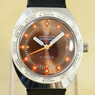 ユンハンス(JUNGHANS)のビンテージ ユンハンス olympic ダイバーズウォッチ 手巻き腕時計(腕時計(アナログ))