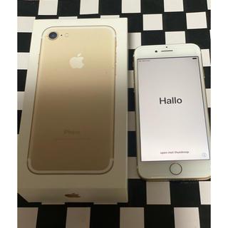 Softbank - iPhone7(° ꈊ °)✧ゴールド 箱、説明書あり