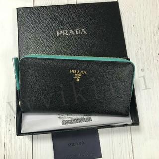 PRADA - PRADA プラダ 黒 ブラック エナメル  長財布 箱付