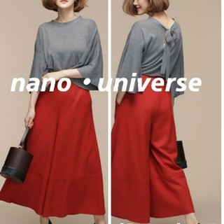 nano・universe - 【新品】nano・universe フレアスリーブバックリボンニット