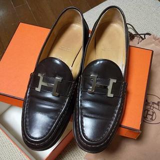 エルメス(Hermes)の《美品》HERMÈS ローファー 37.5cm(ローファー/革靴)