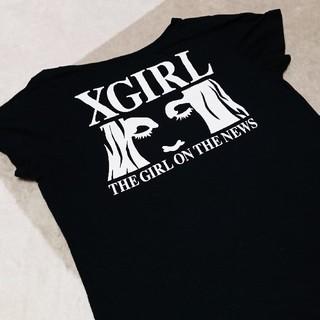 エックスガール(X-girl)のx-girl Tシャツ バッグ ポーチ ミニ財布(雑誌付録)(Tシャツ(半袖/袖なし))