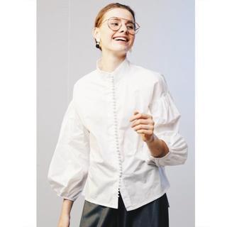 TOMORROWLAND - SDEWHITE ホワイト ボタンブラウス スタンドカラー 白 新品