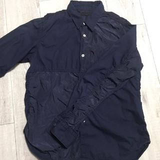 COMME des GARCONS - コムデギャルソン メンズ パッチワーク 濃紺 長袖シャツ