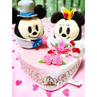 Disney - ミッキーミニー💗ハートオブジェ