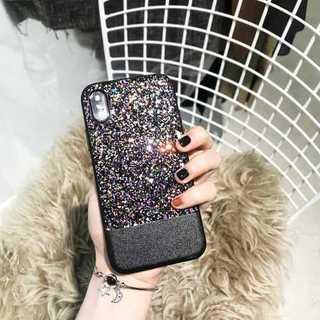 iPhoneXR ブラックiPhoneケース ラメ  グリッター キラキラ