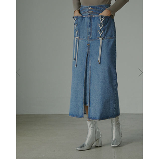 Ameri VINTAGE - AmelievintageUNEVENNESSPOCKETDENIM SKIRT