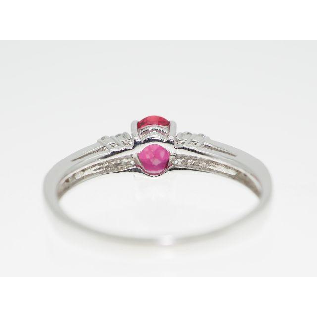 【D0.66Cts R0.16Cts】PT900 ルビーダイヤモンドリング レディースのアクセサリー(リング(指輪))の商品写真