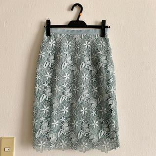 JUSGLITTY - 美品‼ ジャスグリッティー グラデレースタイトスカート レーススカート ミント
