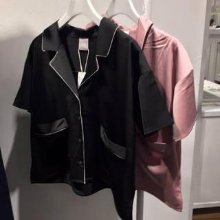 ハレ(HARE)のHARE ハレ パジャマシャツ ブラック(シャツ/ブラウス(長袖/七分))
