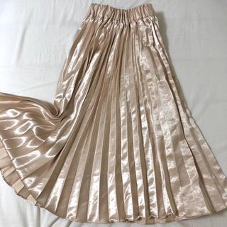 dholic - サテンロングプリーツスカート