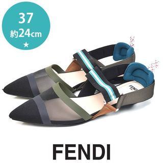 FENDI - フェンディ 定価7.9万 メッシュバンド サンダル 37(約24cm)