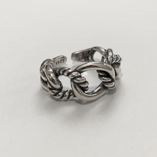 シルバー925 デザインチェーンリング シルバーリング silver925(リング(指輪))
