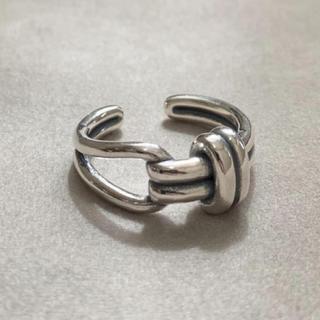 シルバー925 ベルトデザインリング 結び目 シルバー(リング(指輪))