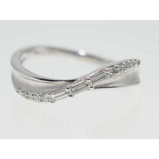 【0.20Cts】PT900 ダイヤモンドリング【サイズ直し無料】(リング(指輪))