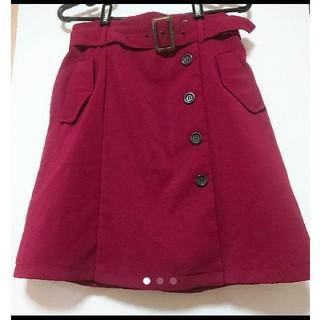 INGNI - INGNI ベルト付きスカート 赤 タグなし
