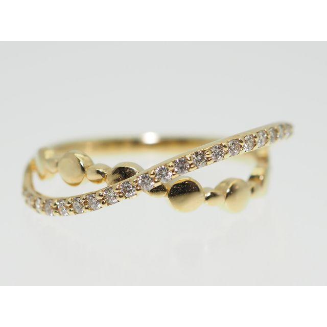 【0.540Cts】K18YG ダイヤモンドリング【サイズ直し無料】 レディースのアクセサリー(リング(指輪))の商品写真