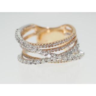 【1.00Cts】K18YG/WG ダイヤモンドリング【サイズ直し無料】(リング(指輪))