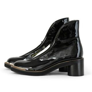 ツモリチサト(TSUMORI CHISATO)のツモリチサト*フロントゴアブーツ ショートブーツ 黒*定価:59,400円(ブーツ)