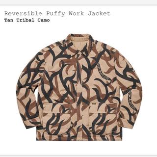 Supreme - 定価以下 M reversible puffy work jacket