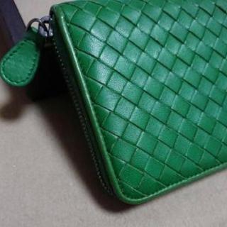 Bottega Veneta - 美品 ボッテガヴェネタ 長財布 ラウンドファスナー  小銭入れ グリーン 緑