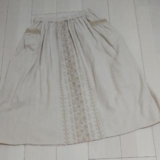SM2 - 新品 前中心刺繍スカート