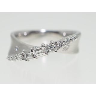 【0.74Cts】PT900 ダイヤモンドリング【サイズ直し無料】(リング(指輪))