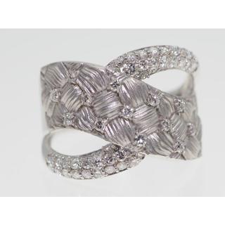 【0.50Cts】K18WG ダイヤモンドリング【サイズ直し無料】(リング(指輪))